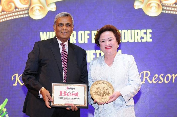 "BRG Kings Island Golf Resort won ""Best Course in Vietnam"" 3 times consecutively"